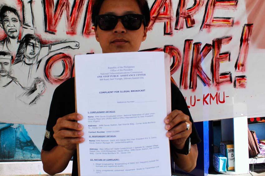 Striking union files complaint vs 'illegal broadcast'