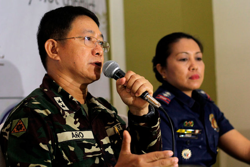 10th Infantry Division Major General Eduardo Año says they welcome the investigation on the recent killings by the Army in Paradise Embac, Paquibato District by the City Council. (Ace R. Morandante/davaotoday.com)