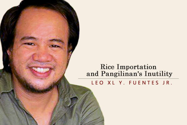Rice Importation and Pangilinan's Inutility