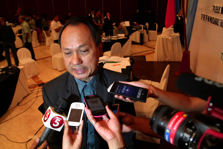 Commissioner Roberto Cadiz of the Commission on Human Rights says they will report their findings and recommendations to appropriate agencies for proper actions during the last day of their public inquiry related to the situation of Lumad evacuees in Mindanao. (Ace R. Morandante/davaotoday.com)