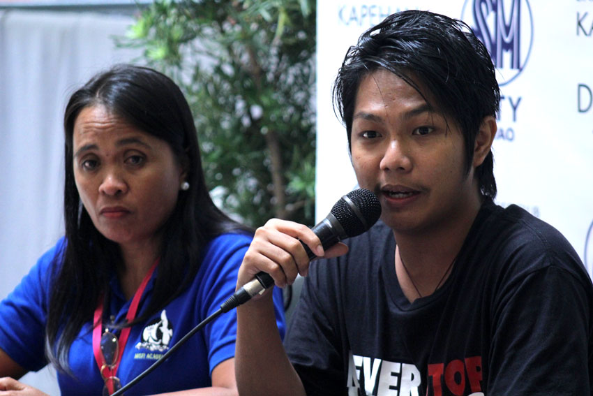 Rius Valle, spokesperson of the Save Our Schools (SOS) Network, challenges the local government units to take action on the situation of Lumad schools under their localities.(Ace R. Morandante/davaotoday.com)