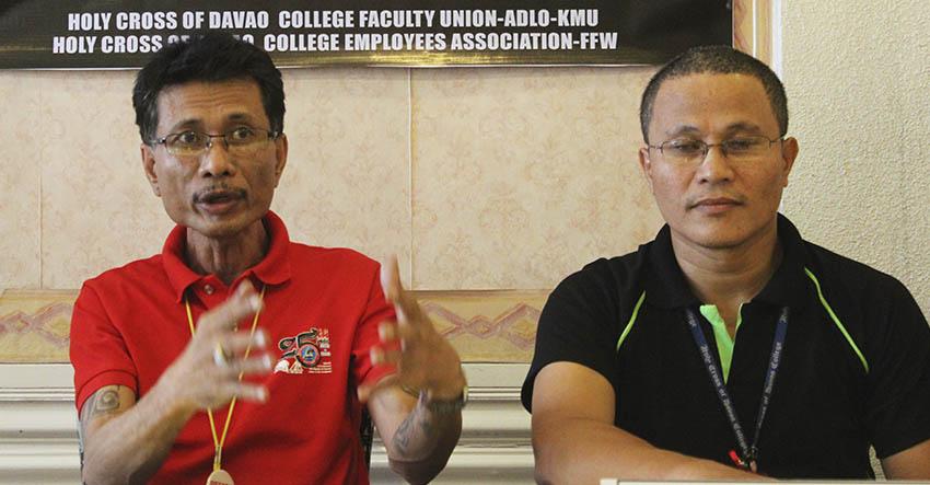 Protest Vs Davao private school to welcome Teacher's Day celebration