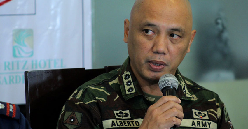 LOCATION ID. 1001st Brigade Commander Col. Macairog Alberto reports on the capture of two soldiers in Monkayo town Compostela Valley province in a press conference Wednesday. Alberto assumed the command post last September 18. He says the location of the captured soldiers are already identified. (Ace R. Morandante)
