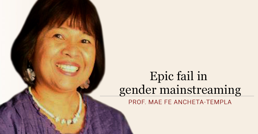 Epic fail in gender mainstreaming