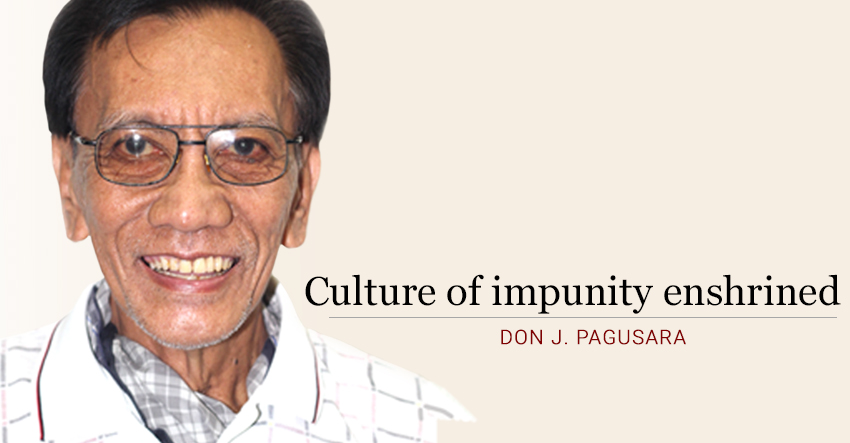 Culture of impunity enshrined