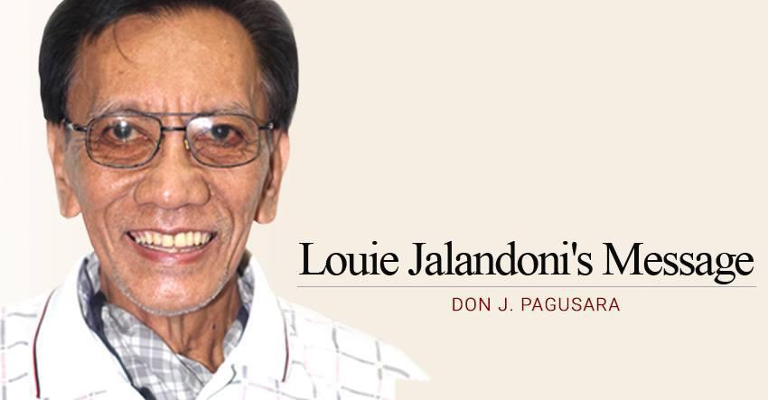 Louie Jalandoni's Message