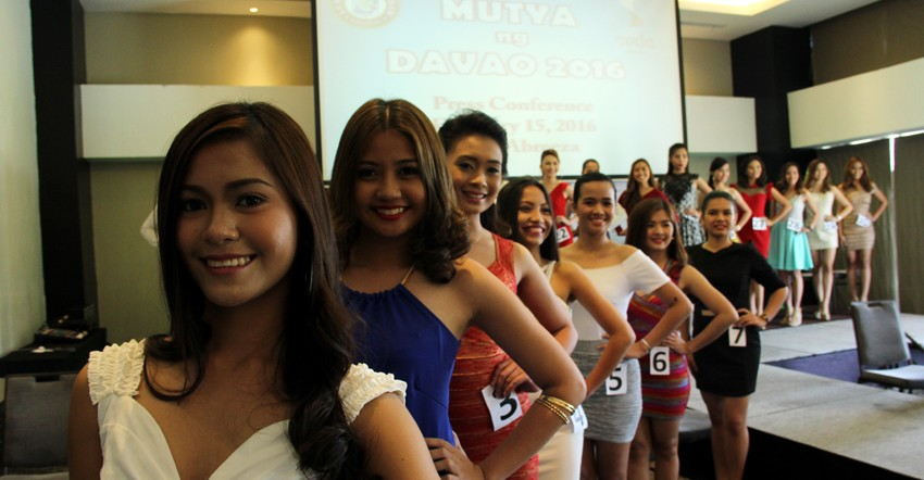 MUTYA NG DABAW 2016 CANDIDATES. Thirty candidates vying for the Mutya ng Dabaw crown are presented to the public during the press conference on Monday, February 15. (Ace R. Morandante/davaotoday.com)