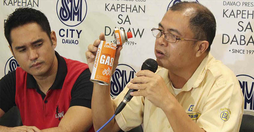 Engineer Nilo J. Geroche, Chief Science Research Specialist of DOE Region 11  during Monday's Kapehan sa Dabaw. (Medel V. Hernani/davaotoday.com)