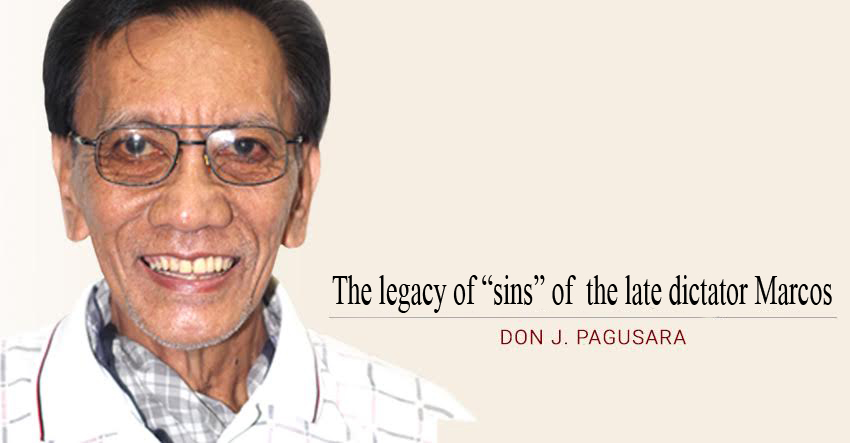 "The legacy of ""sins"" of  the late dictator Marcos"