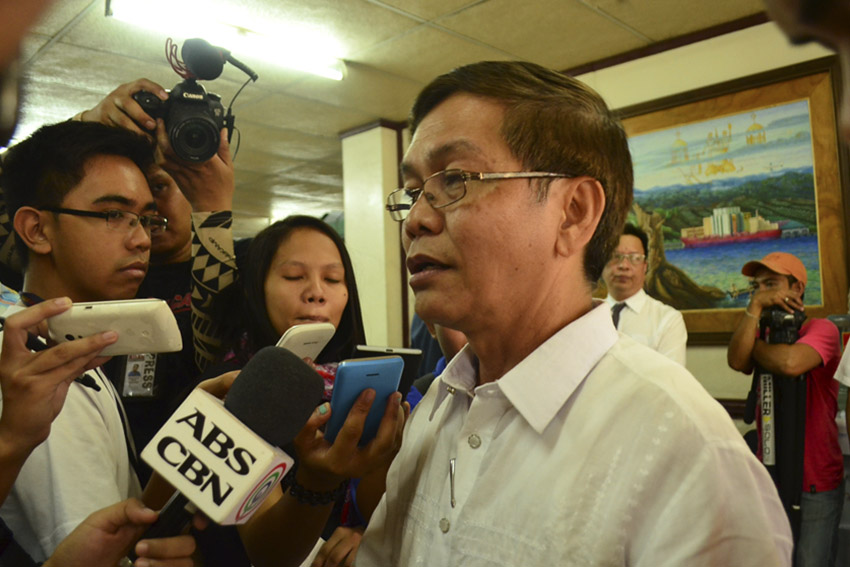 Atty. Joel Mahinay of the Union of People's Lawyers in Mindanao says they filed the cases against 94 government officials for murder, frustrated murder, illegal arrest and other charges. (Medel V. Hernani/davaotoday.com)
