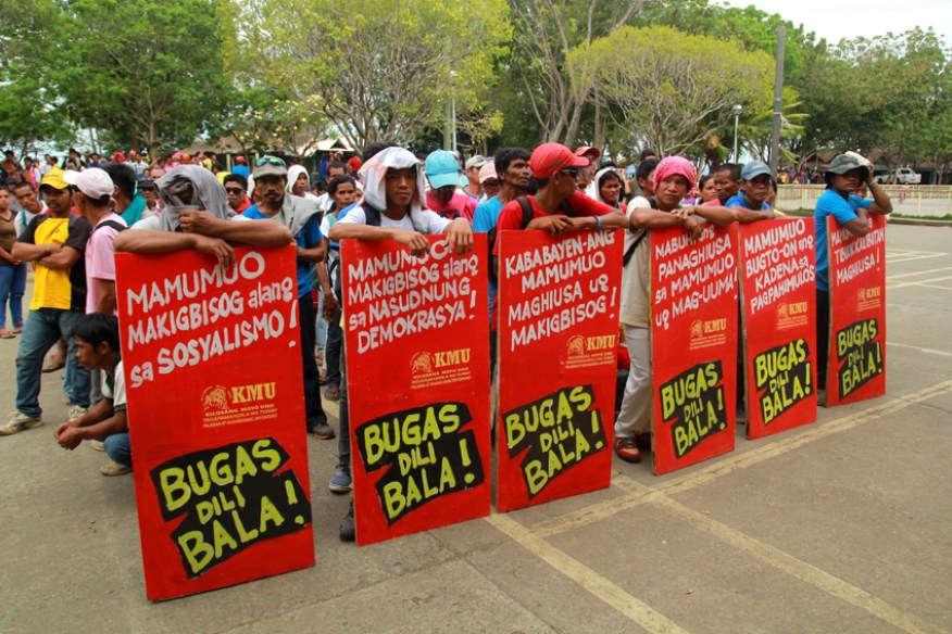 Banana workers from Compostela Valley Province are getting ready for the big mobilization.