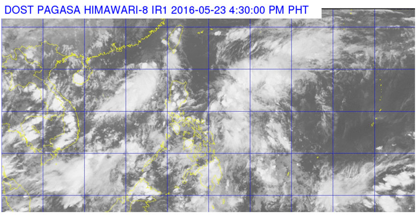 Satellite images from DOST Pag-asa