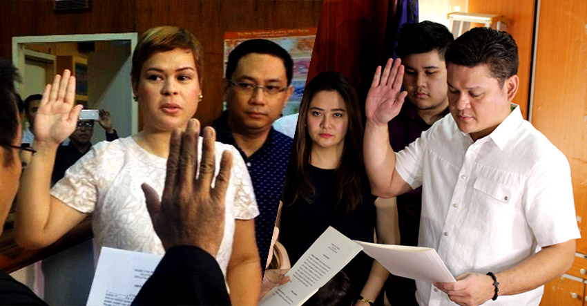 Duterte siblings take oath as Davao's top local execs