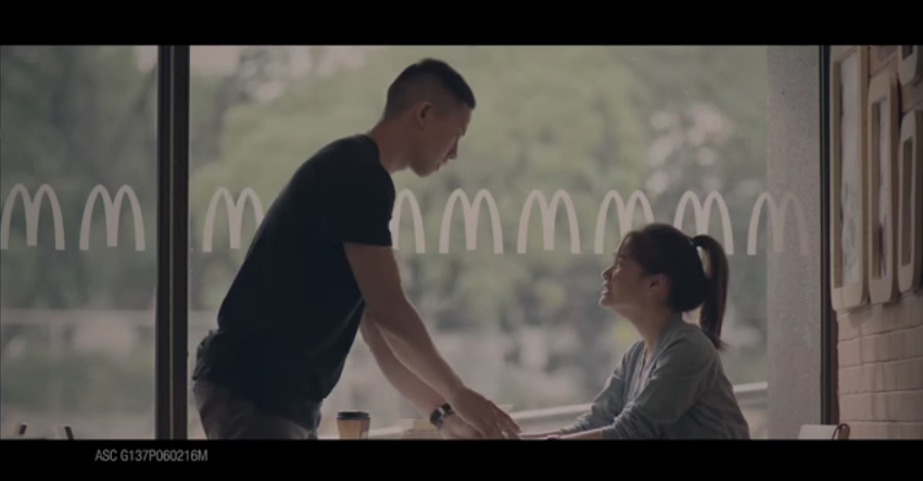 Screen grab from McDonald's advertisement posted on youtube.