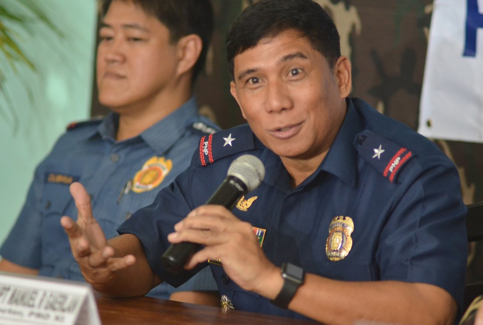 RISING NUMBER. Chief Superintendent Manuel Gaerlan of the Police Regional Office 11 says the number of drug users and pushers who surrendered to authorities in Davao Region is now 31,964, while 10 pushers have been killed in police operations since July 1. (Medel V. Hernani/davaotoday.com)
