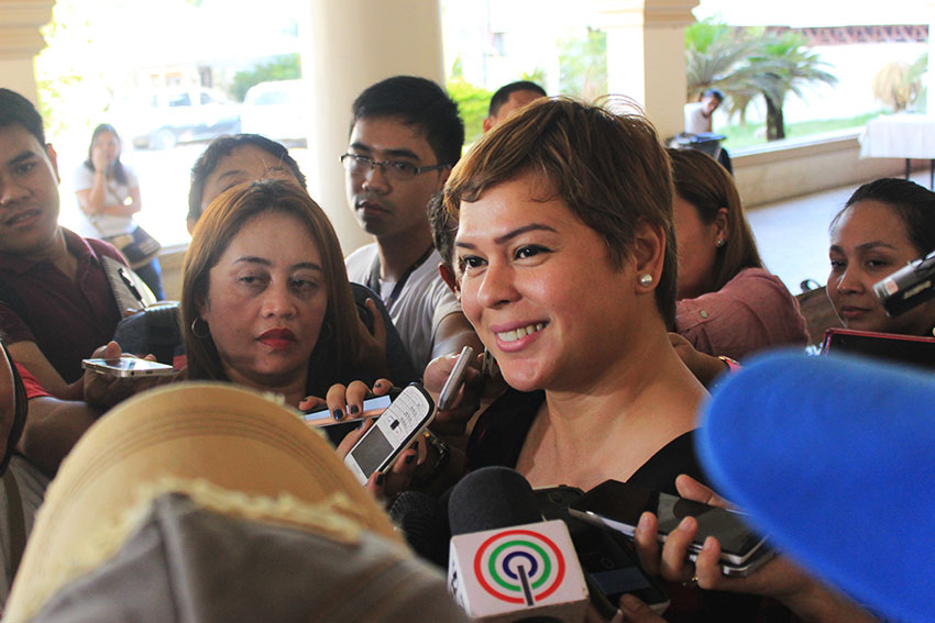 Sara tells TF Davao: 'The challenge is to mark years of Davao living peacefully, freely'