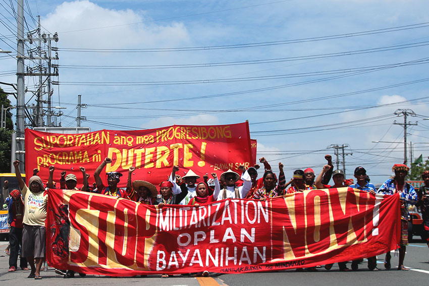 Leaders from Mindanao lead the march and followed by other regions.