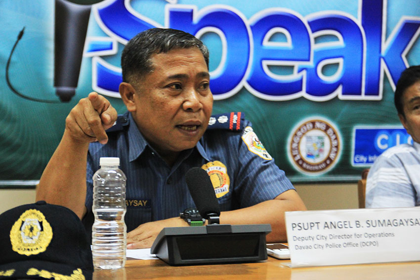 NO DRONES.  Deputy City Director for Operations of the Davao City  Police Office Angel B. Sumagaysay says that flying of drones will not be allowed during this year's Kadayawan celebration because of heightened security measures brought about by the expected attendance of President Rodrigo Duterte. (Paulo C. Rizal/davaotoday.com)
