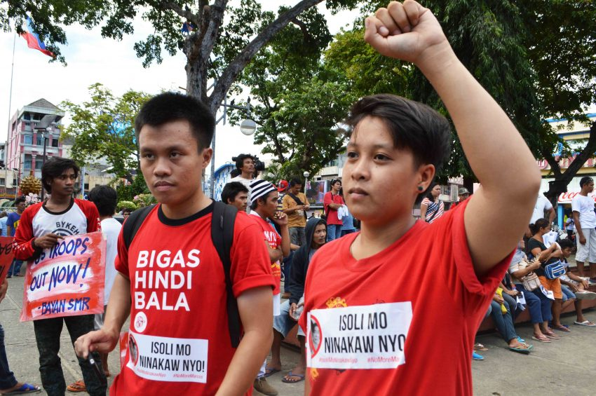 Youth activists join the march.