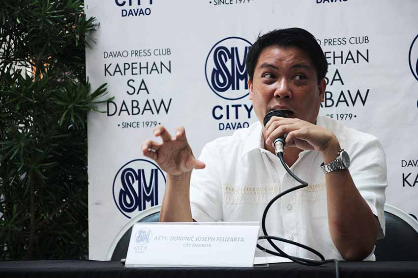 The city is now hastening road repairs says Atty. Dominic Joseph Felizarta of the City Engineer's Office because of the rainy weather. Felizarte says asphalt paving operations are delayed during rainy days. (Paulo C. Rizal/davaotoday.com)