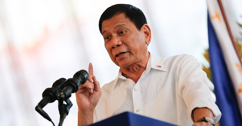 President Rodrigo Duterte said he is not a lapdog of the US, China or any other country, but only of the Filipino people. (TOTO LOZANO/Presidential Photo)