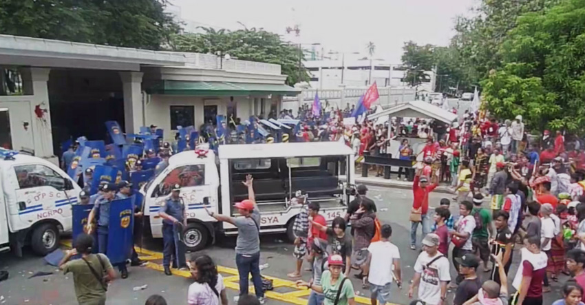 Police officer running over IP protesters earns ire of various groups