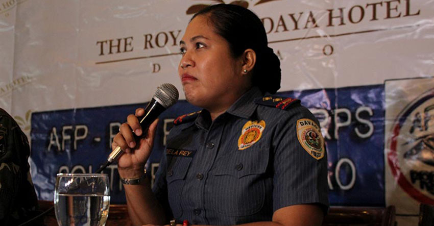 Davao City Police Office spokesperson Senior Inspector Catherine Dela Rey. (Paulo C. Rizal/davaotoday.com)