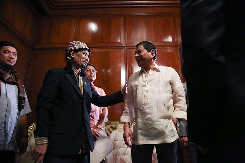 Misuari vows to help Duterte pursue peace in Mindanao