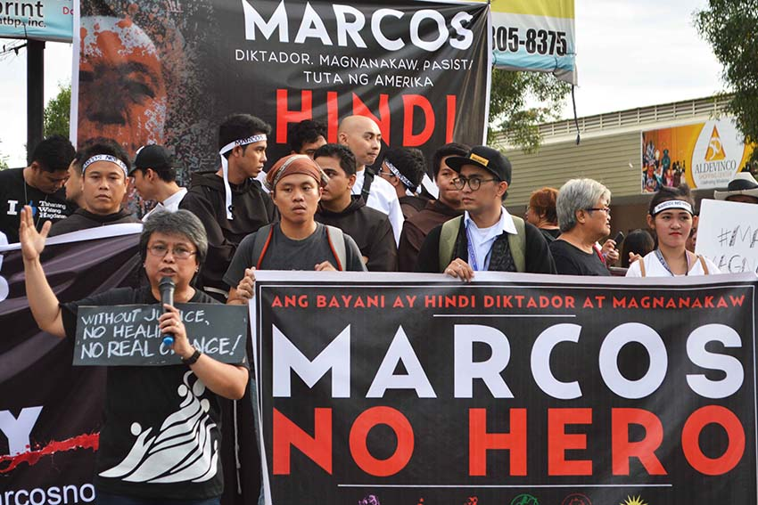 FAIR WARNING. Mags Maglana, spokersperson of the Konsensya Dabaw call on President Rodrigo Duterte to think about his alliance with the Marcoses. (Medel V. Hernani/davaotoday.com)