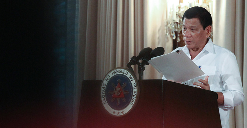 President Rodrigo Duterte (King Rodriguez/Presidential Photo)