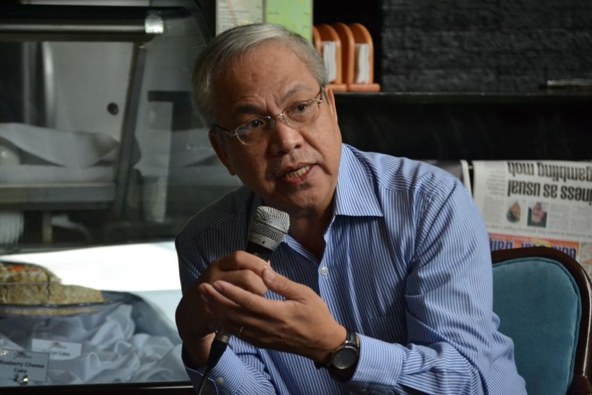 Lapanday Foods Corporation Chief Finance Officer Manolito Dagatan says the total damage of the estimated 15 hectares of banana crops cut down by protesting farmers inside the plantation in Barangay Madaum, Tagum City costs $120,000. Dagatan says the 150-hectare occupied by members of the Madaum Agrarian Reform Beneficiaries Association Inc. comprise three percent of the total volume of production of Lapanday. (Maricar Emata/davaotoday.com)