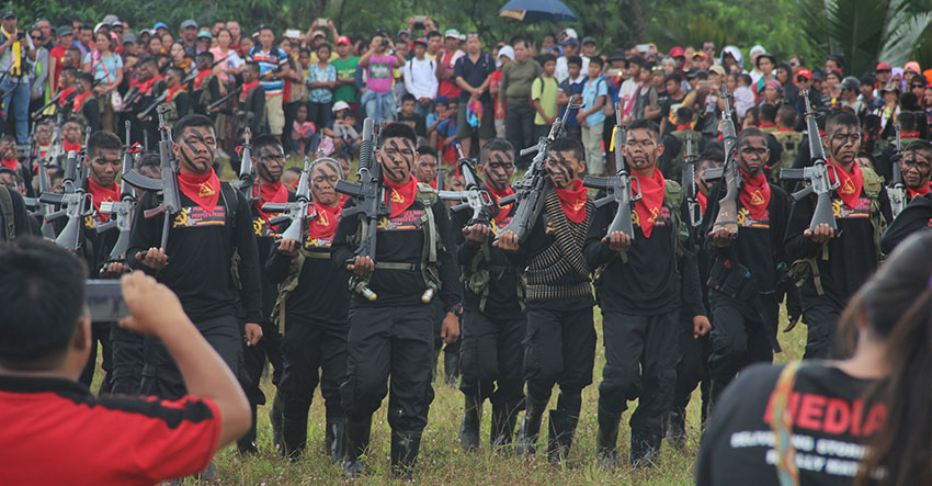 "The New People's Army in Southern Mindanao said the revolutionary forces will not die for any person except for the ""masses"" that they are serving. (Earl O. Condeza/davaotoday.com)"