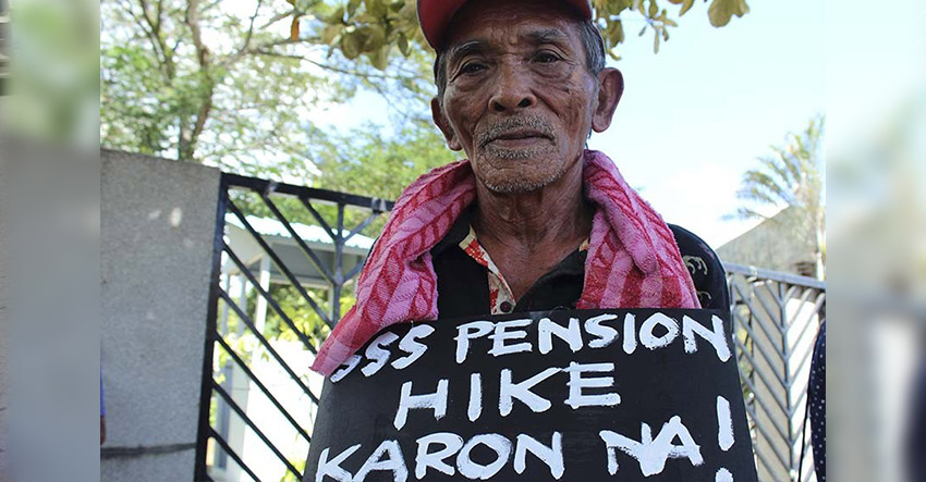 Cecilio Carog, 72 years old, narrates his life as SSS pensioner way back in 2004 Cecilio was receiving P1,200 until 2013. After nine years, the pension increased by P200. (Medel V. Hernani/davaotoday.com file photo)