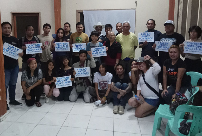Davao artists unite for peace, urge gov't to resume talks with Reds
