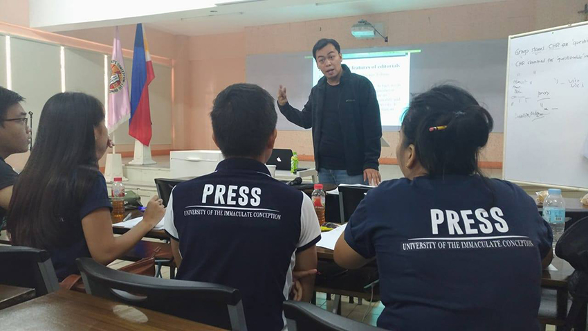 Davao Today, TCI hold campus-wide journalism workshop