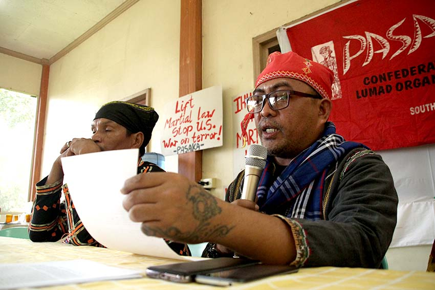 Lumad group decries 'enemy of the state' tag, hits reso questioning DSWD MOU