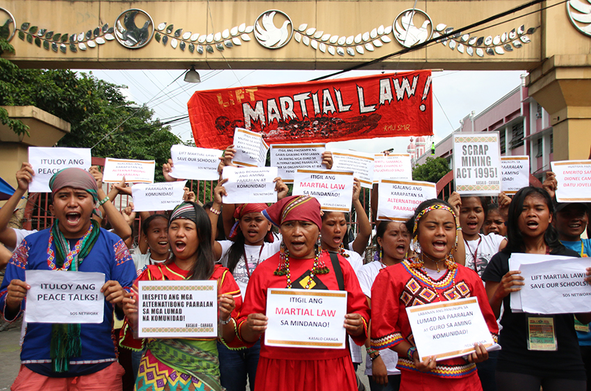 Militant solon accuses AFP of using funds to 'attack' Lumad schools