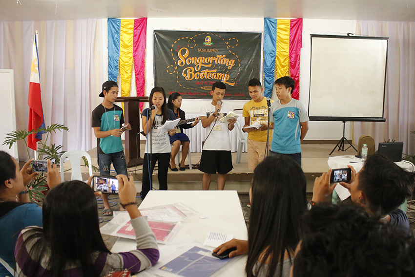 Music album for homegrown composers pushed​ in Tagum City bootcamp​