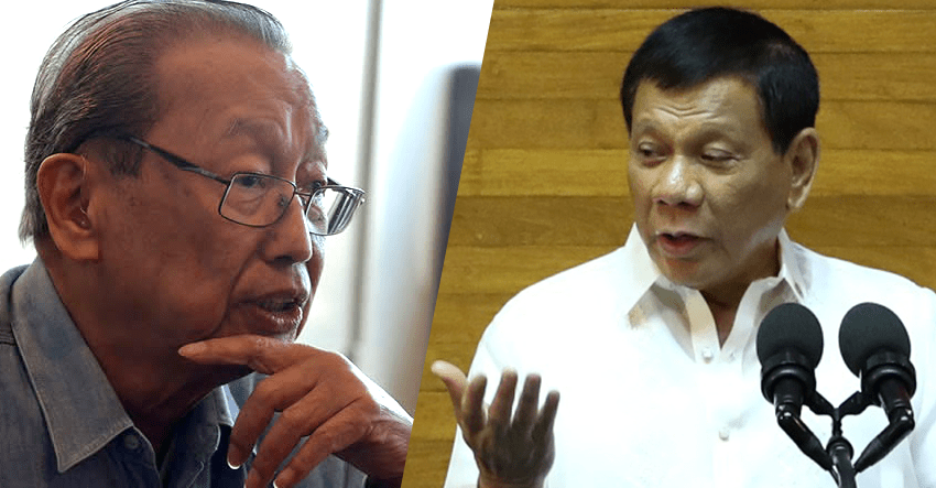 Sison hopes to broker peace with Duterte gov't