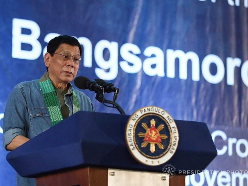 Duterte to ask Congress for special session on BBL