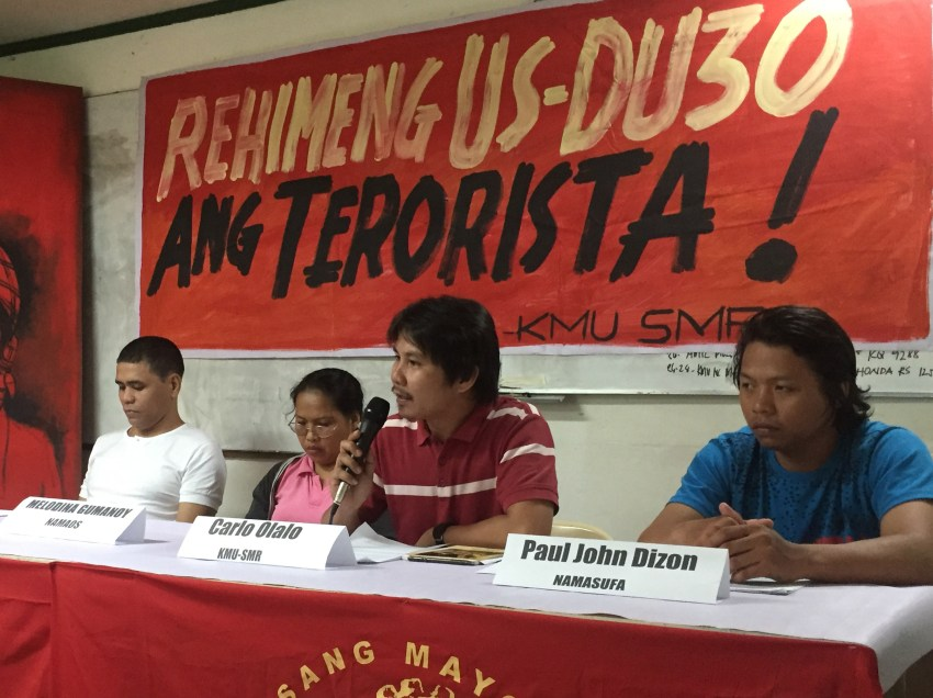Labor unions to take legal action against AFP threats
