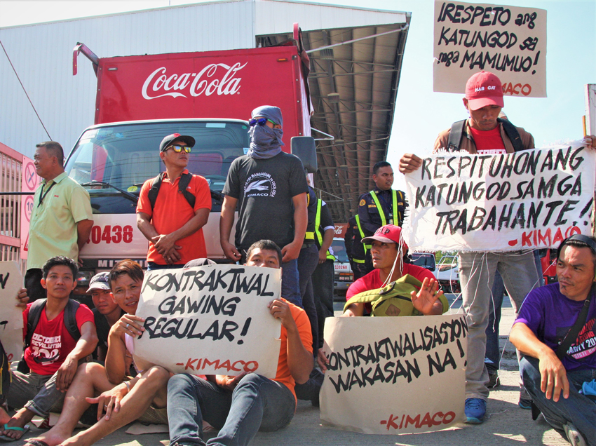 10 Coca-Cola workers face charges after a protest in Davao City