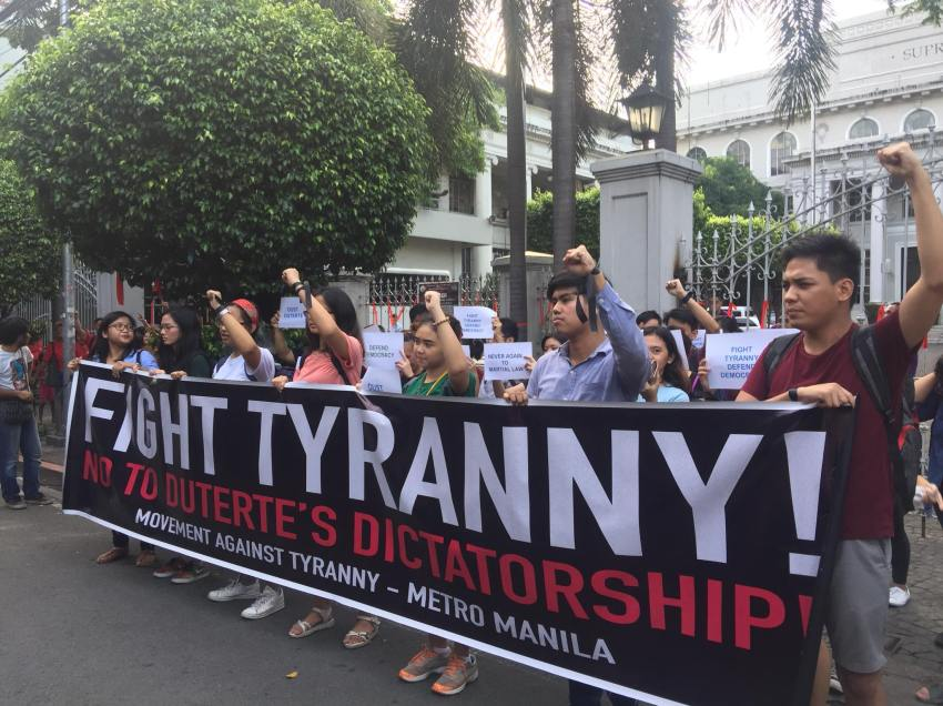 Groups call on people to resist rising tyranny