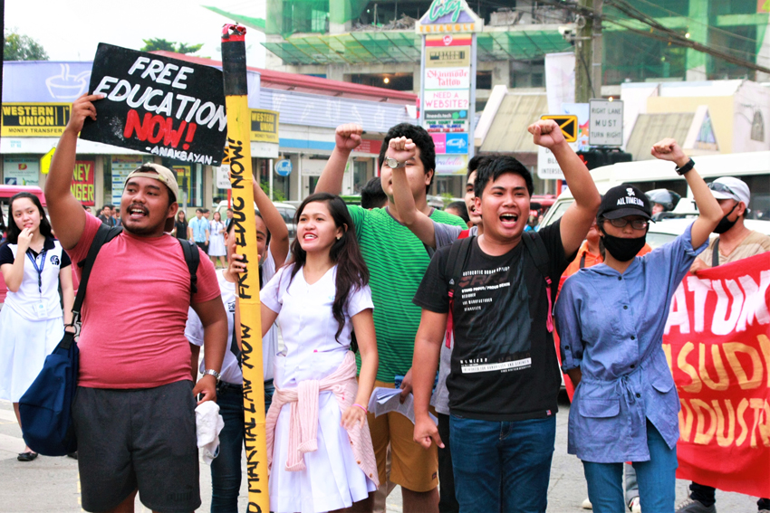 Youth activists tell Bato: we learn to tell right from wrong