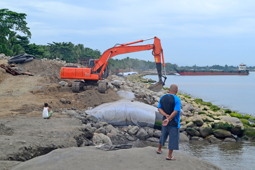Fisherfolks ask for access to shores as coastal​ r​oad project​ goes full swing​