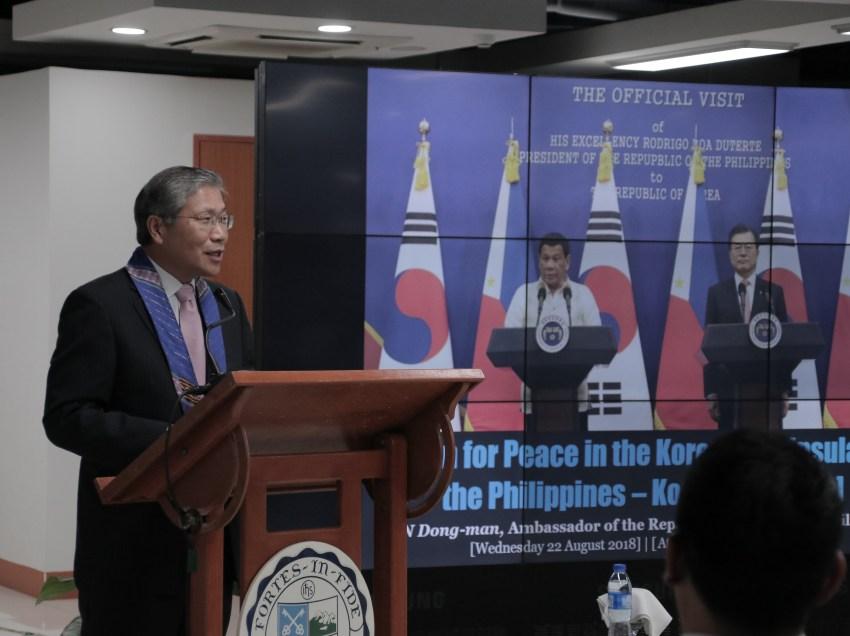 Korean ambassador bullish on peace dev't in Korean Peninsula