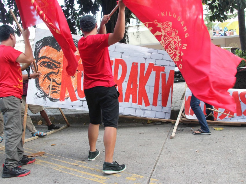 "Davao labor groups frown on Duterte's  ""unfulfilled"" promise to protect labor"