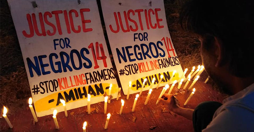 Fact-finding results say 14 Negros farmers summarily executed
