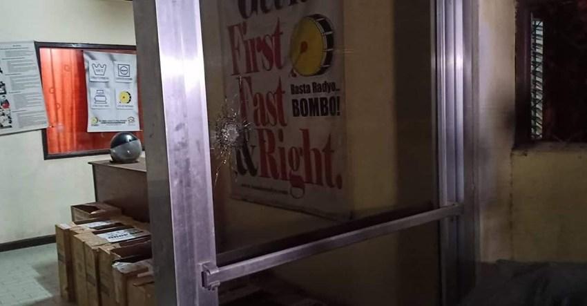 Bombo Radyo GenSan station strafed by unknown assailant