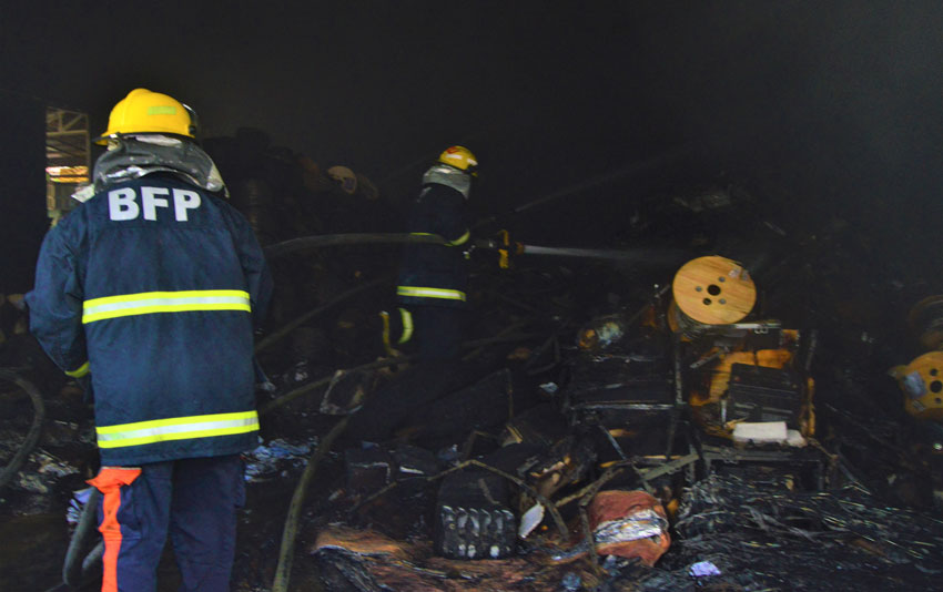 PLDT warehouse fire in Oro destroys millions of equipment